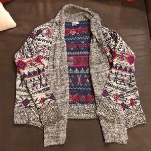 Roxy sweater open front knit cardigan sweater